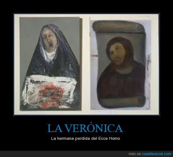 cuadro,ecce homo,pintura,restaurado,veronica,virgen