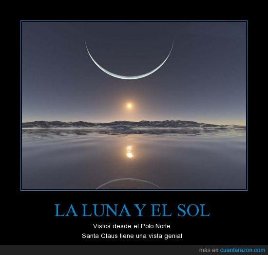 luna,norte,polo,santa,sol