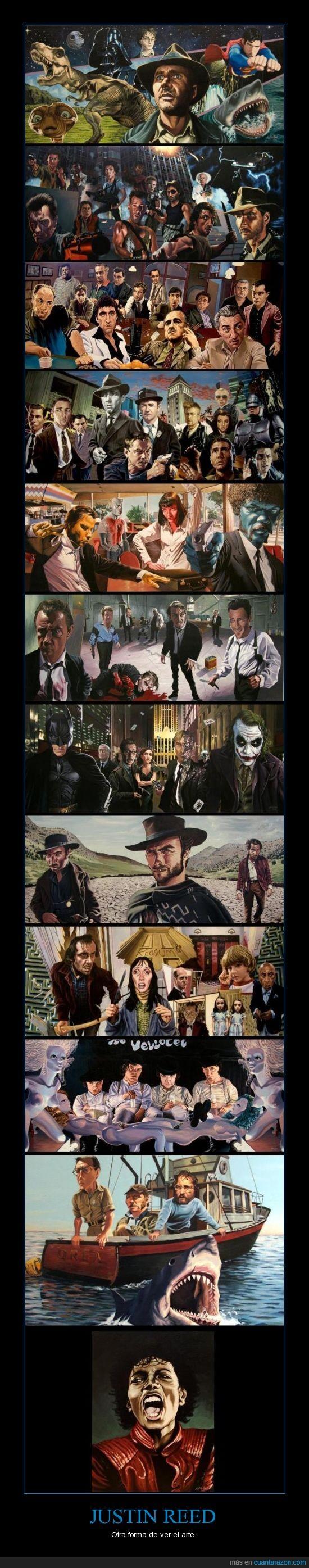 acción,arte,cine,dibujos,ficción,justin reed,mafia,michael jackson,pintura