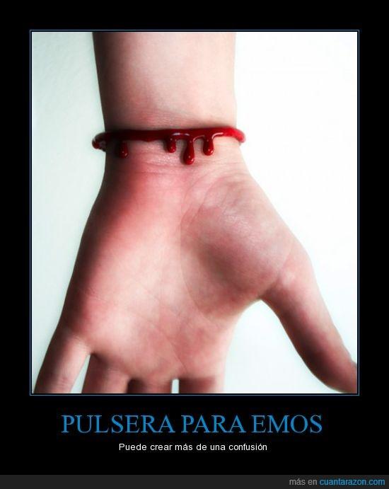 corta,emos,mano,pulsera,sangre,tajo,vena