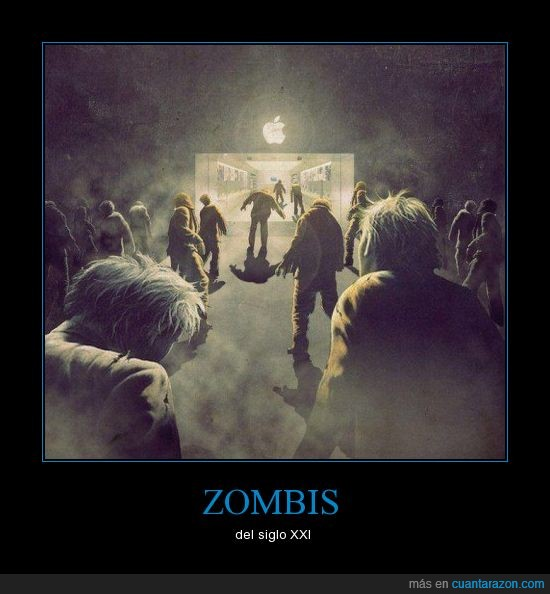 Apple,braaaaains,clientes,descerebrados,fanboy,mac,store,zombis