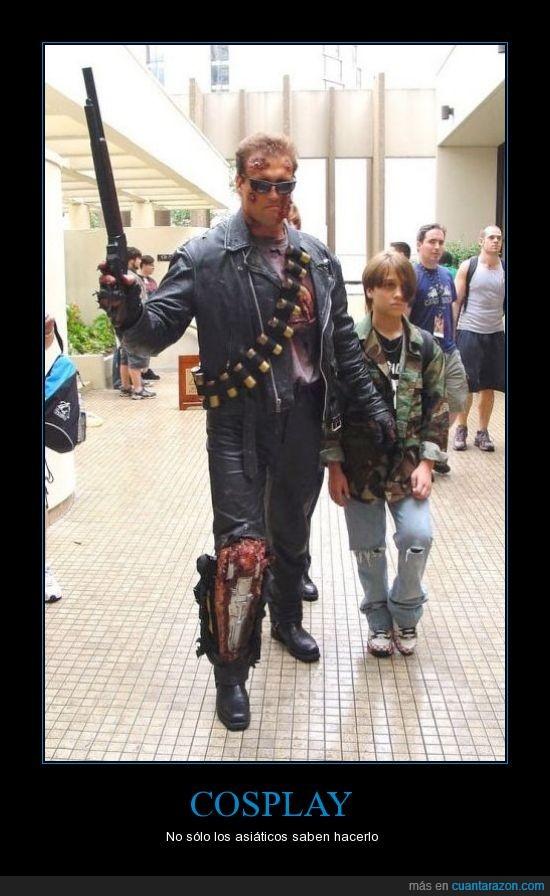 cosplay,cyborg,john connor,pierna,terminator