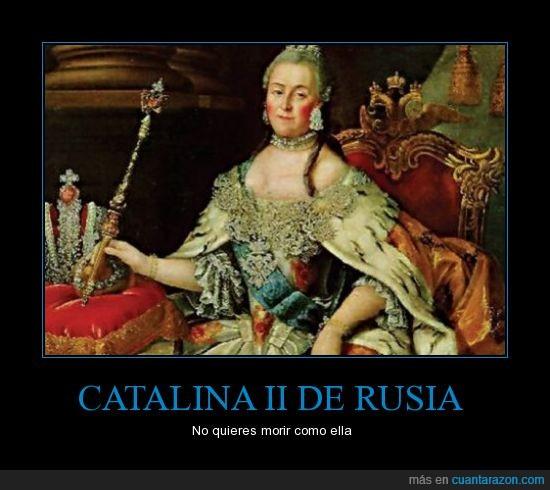 caballo,Catalina II de Rusia,muerte,penetrada
