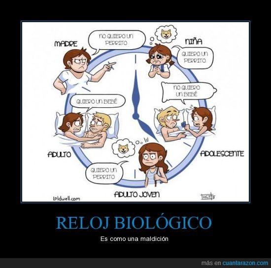 RELOJ BIOLÓGICO Es como una maldición