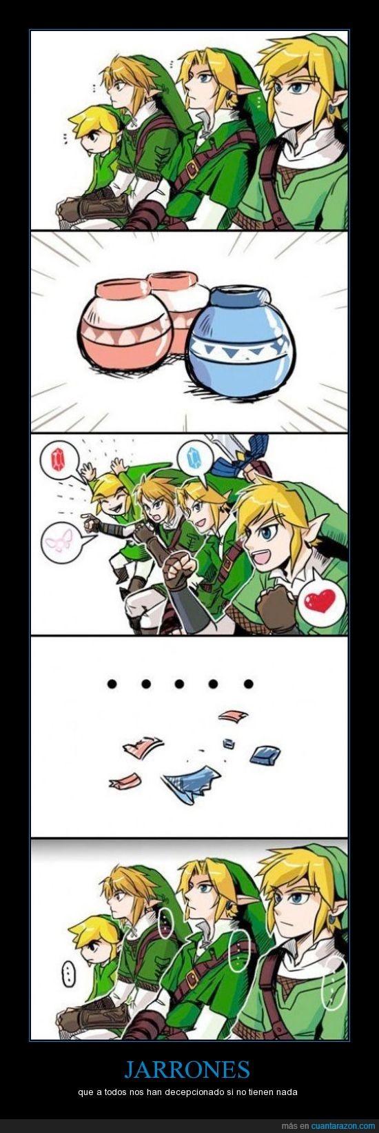 jarrones,Link,reaction guys,rupias,zelda