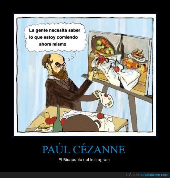 comida,instagram,paúl cézanne,pintura/foto