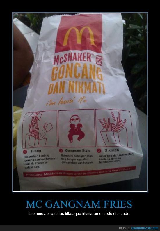 gangnam style,mc donalds,patatas