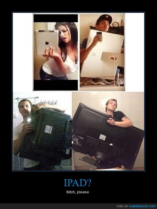apple,choni,espejo,foto,iPad,mac,tele,television,trolls
