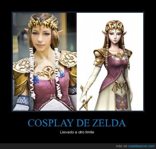 Cosplay,friki,genial,n64,princesa,zelda