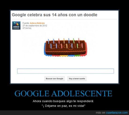 adolescente,celebracion,cumpleaños,google