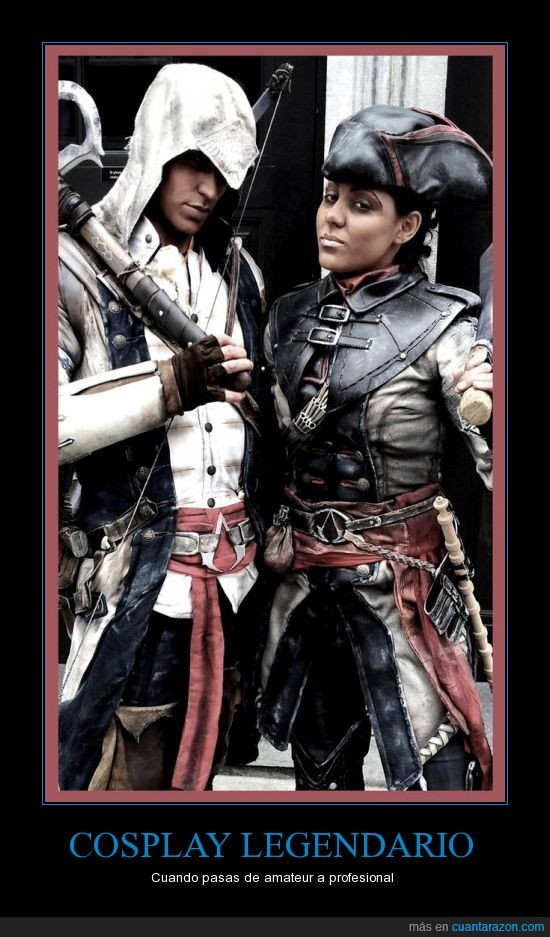 altair,assassins creed,aveline,connor,cosplay,disfraz