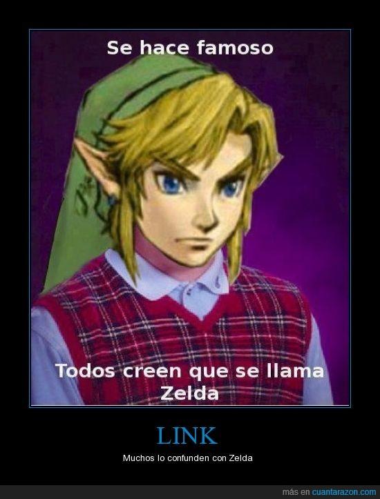 bad luck brian,confundir,Link,princesa,Zelda
