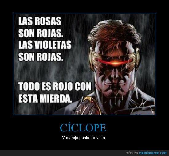 Cíclope,es un poeta,Héroe,Poesía,Rojo,X-Men