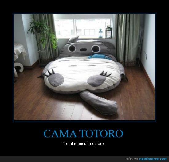 anime,cama,dormir,friki,Totoro