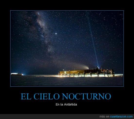 Antártida,Cielo,Impresionante,Naturaleza,Noche