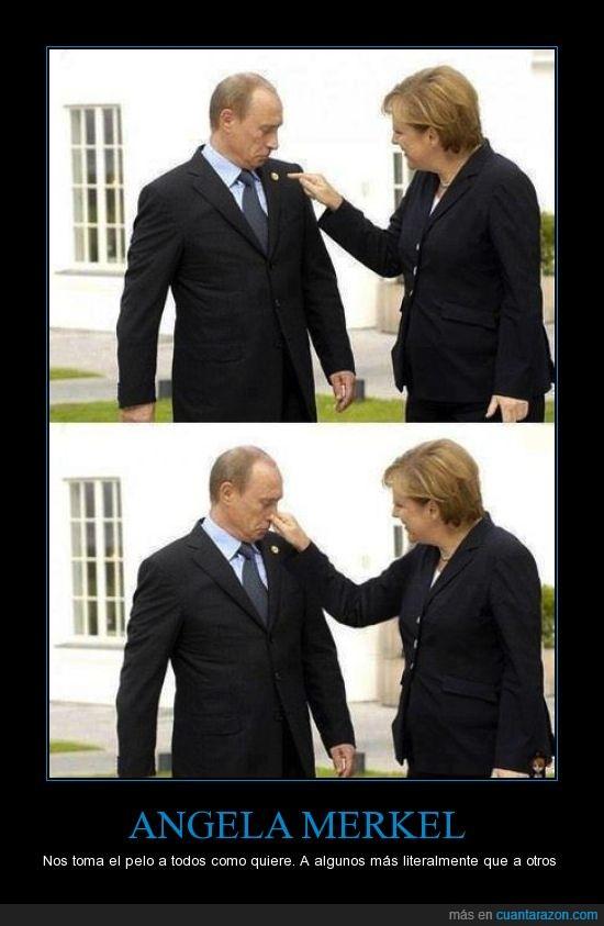 Europa,juego,Merkel,nariz,poder,Putin