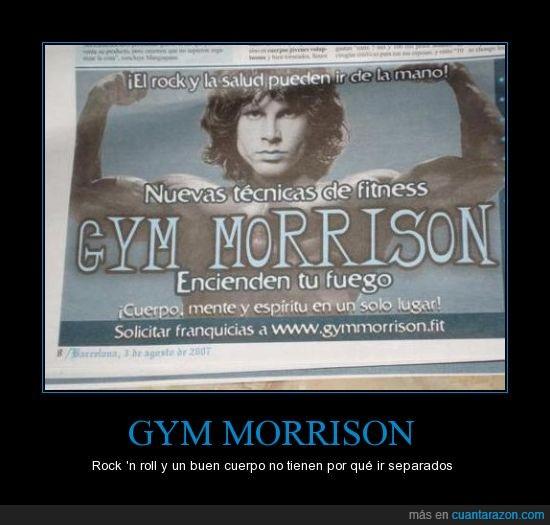 Fisico,Fitness,Gym,Jim Morrison,Musica,Salud,The Doors
