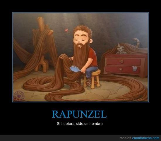 barba,hombre,peinar,pelo,rapunzel