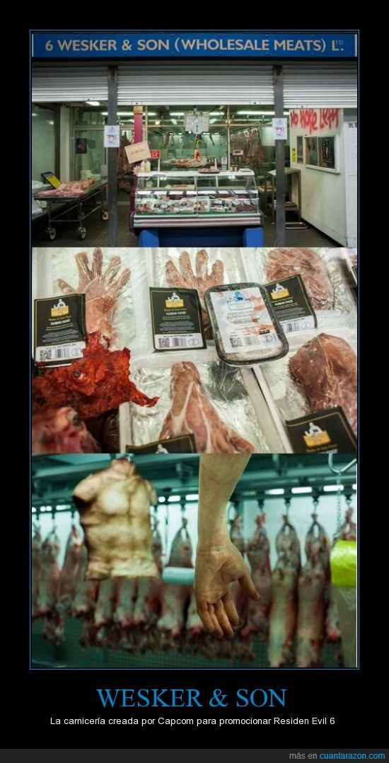 capcom,carne,resident evil,videojuego