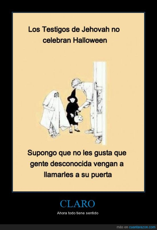dulces,halloween,niños,puerta,testigos de jehova