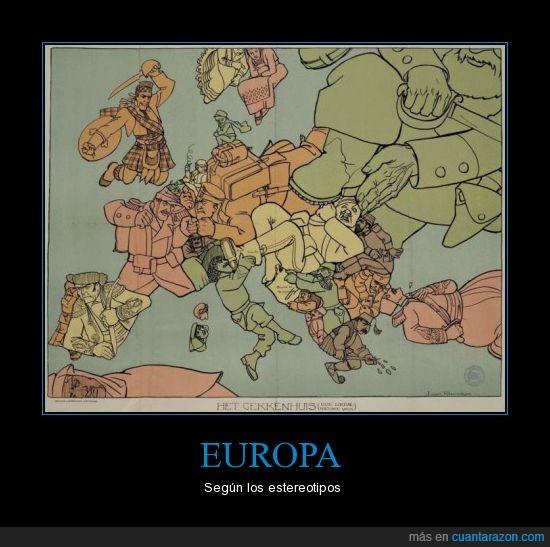 bélico,el moro mira fijamente a españa,estereotipos,europa,guerra,mapa,rusia va a aplastarlos a todos