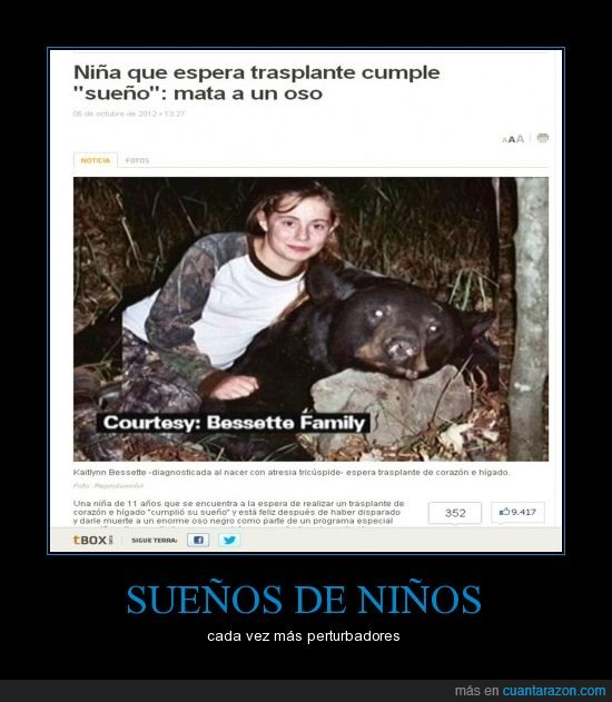 matar,niña,oso,que culpa tiene el oso.,sueño,transplante corazon