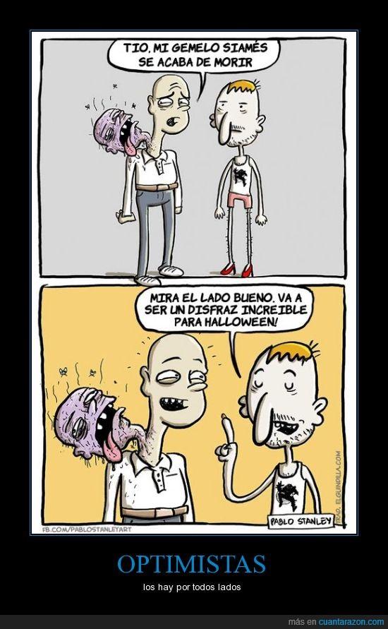 cabeza,disfraz,halloween,hermano,morir,siames,zombie