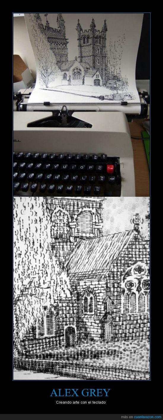 alex grey,arte,teclado