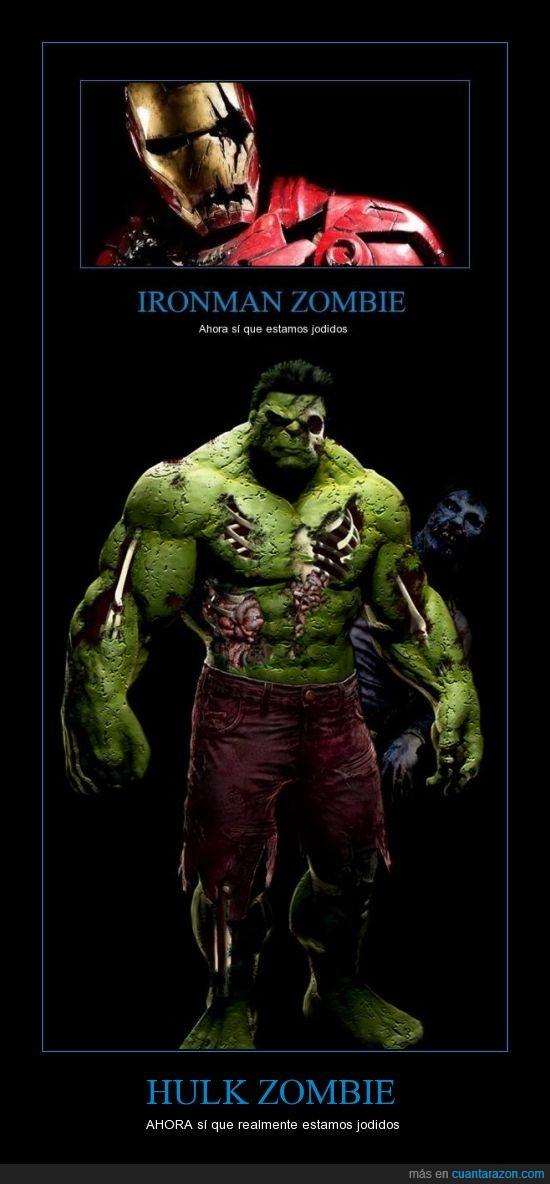 hulk,ironman,jodidos,marvel,zombie