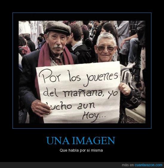 cartel,jovenes,lucha,protesta