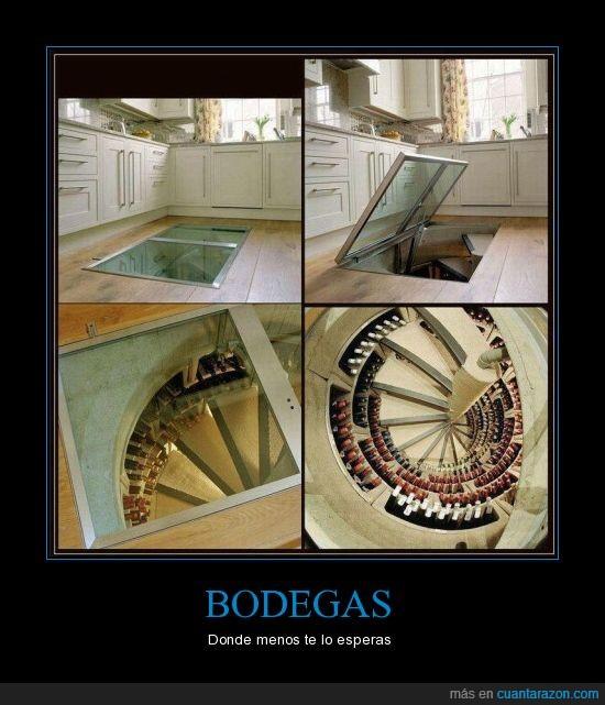 bodega,escalera de caracol,increíble,subterraneo,suelo,vino