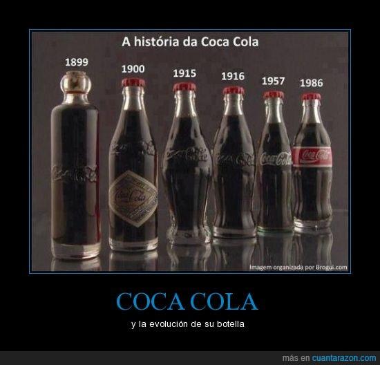 botellas,coca cola,evolucion