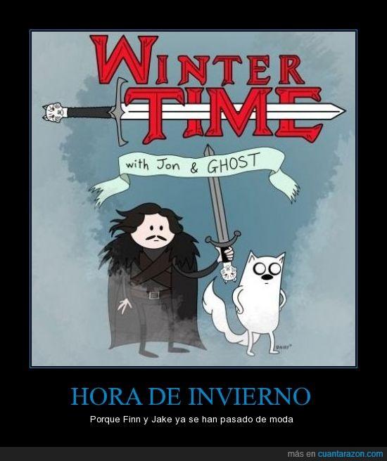 adventure time,aventuras,fantasma,hora,jon,juego de tronos.,stark