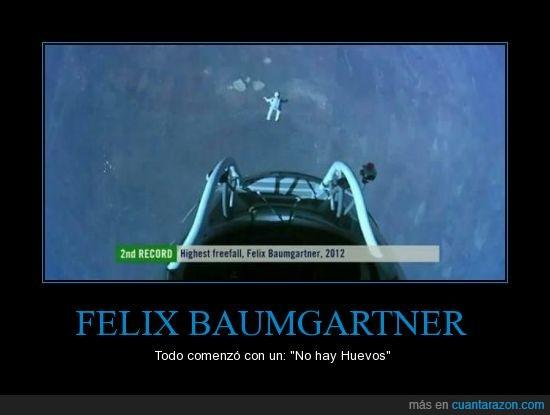caida libre,felix Baumgartner,huevos,idolo,redbull,stratos,teledeporte