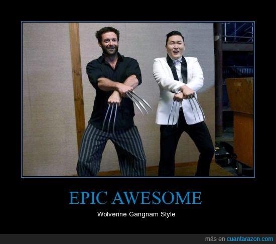 Hugh Jackman,oppa gangnam style,psy,wolverine