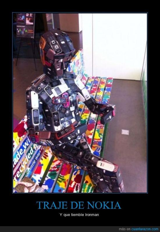 indestructible,Iron Man,Tony Stark,Traje de nokias,Traje robotico