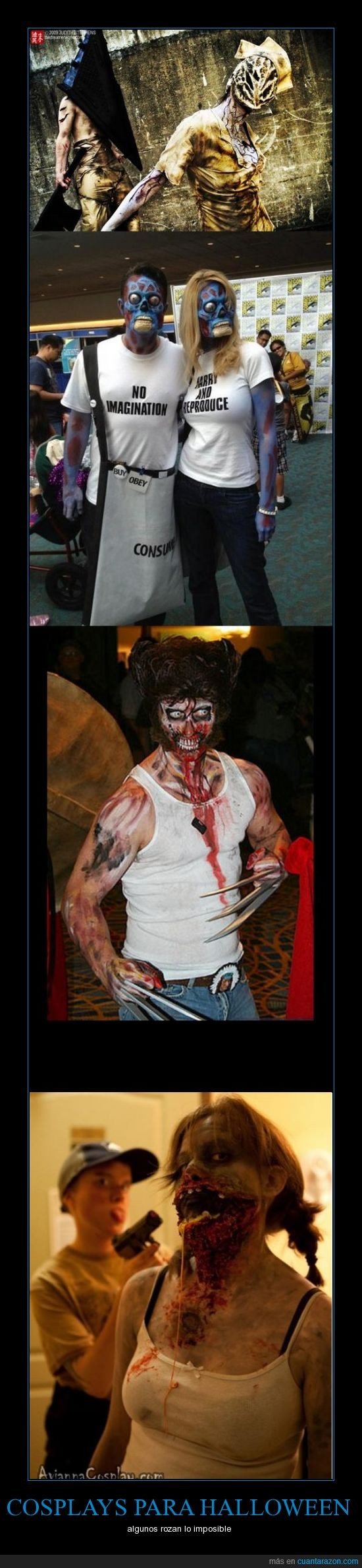 cosplay,left4dead,silent hill,terror,they live,wolverine,x men