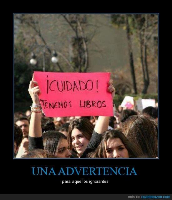 gobernantes,libros,protesta