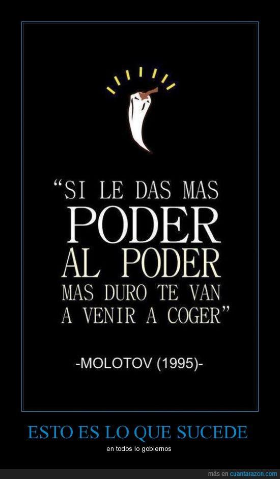 coger,gobierno,molotov,politica