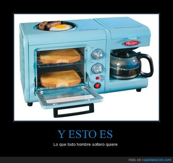 cafe,freir,horno,huevo,sarten,tortadora,tostada