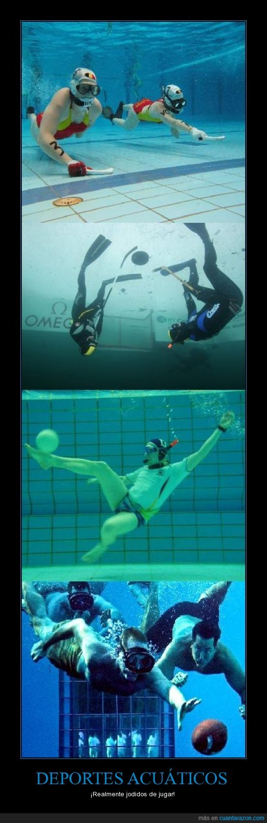 agua,deportes acuaticos,football,hielo,Underwater football,Underwater hockey,Underwater ice hockey,Underwater rugby