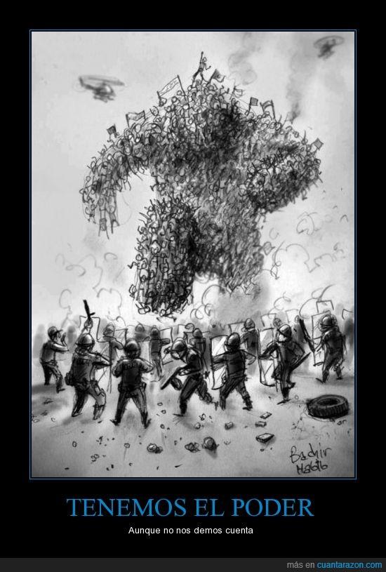 gigante,poder,policia,politica,pueblo,revolucion