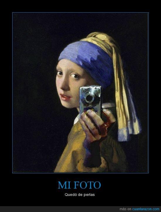arte,autofoto,camara,chica de la perla,espejo