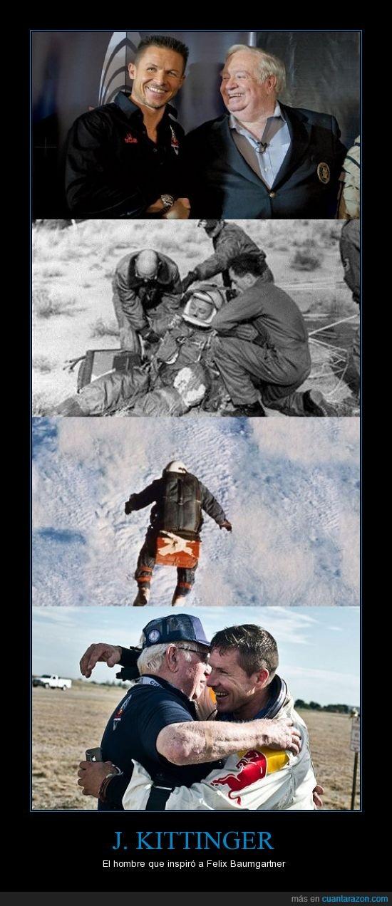 amigos,estratosfera,Felix Baumgartner,inspiración,J,Kittingersalto