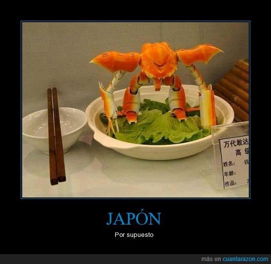 cangrejo,comida,japon,transformer