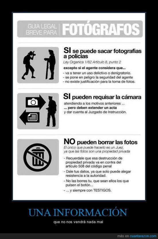 cámara,fotografías,fotos,ley,manifestación,policía