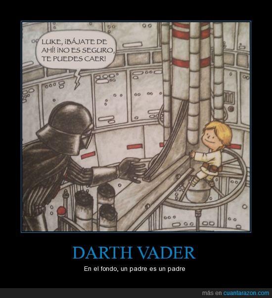 baja,darth vader,luke,noooooooo noooo,padre,peligro,soy tu madre,star wars