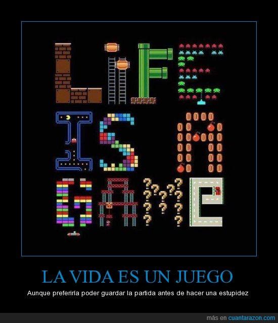 gamer,juego,jugar,mario,molestar,quiero un tutorial,vida,videojuego