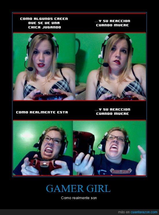 chica gamer,gafas,gamer girl,ira