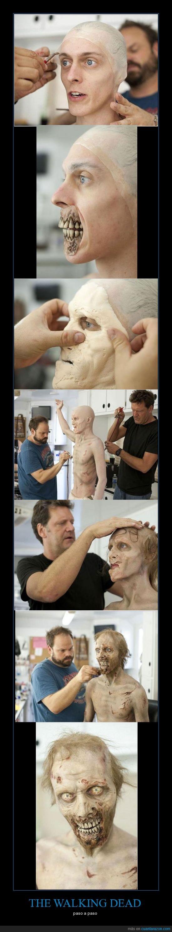 chico,dead,maquillaje,walking,zombie